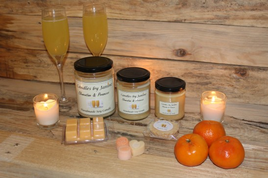 Clementine & Prosecco Scented Candle, Clementine & Prosecco Home Candle,Scented Candle,Home Candles,